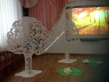 Plywood decorative trees