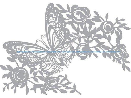 Pronty Mask stencil Butterfly