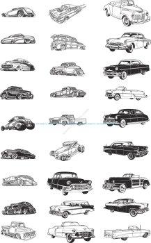 Retro Cars Vector Art