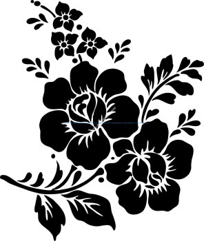 Rose Flower Vector Vector Art jpg
