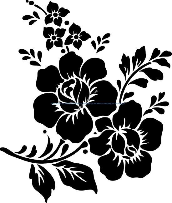Rose Flower Vector Vector Art jpg