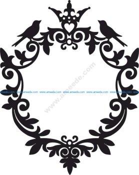 Round Monogram Leaf Patterns