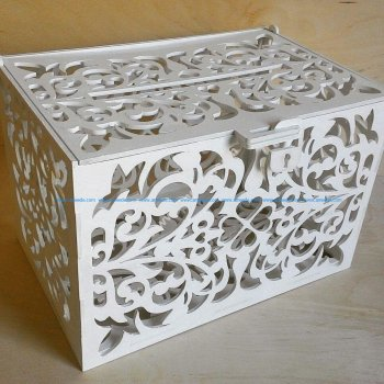 Rustic Wooden Card Box, Wedding Money Box Slot