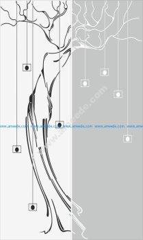 Seamless Abstract Stroke Pattern Sandblast Pattern