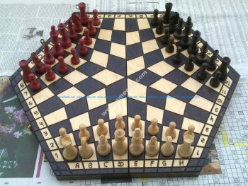 Shashki Board 3 Players