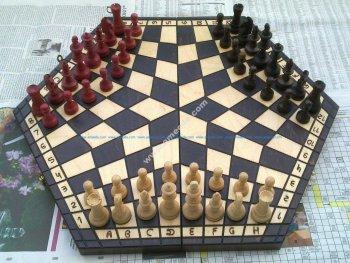 Shashki Board 3 Players