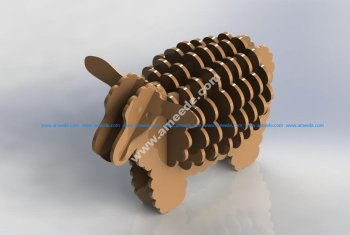 Sheep 3D Puzzle Pattern