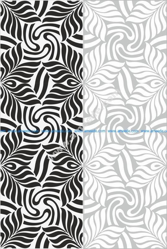 Simple wavy classic sandblast pattern