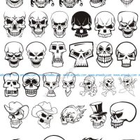 Skull demon or evil horror Vector Pack