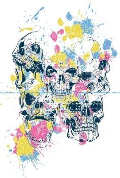 Skulls Print