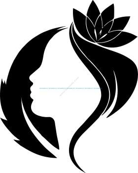 Spring Woman Vector Art