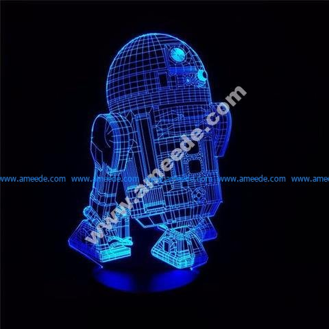 Star Wars R2-D2 Robot 3D LED Night Light