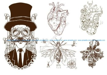 Steampunk Decor Vector Art
