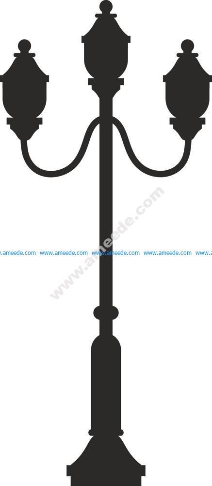 Street Lamp Silhouette