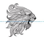 Totem Animal Lion Vector Art