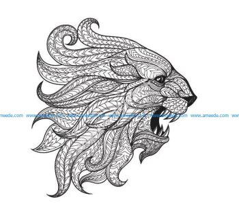 Totem Animal Lion Vector Art
