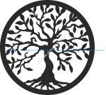 Tree of Life laser cut vector