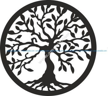 Tree of Life laser cut vector