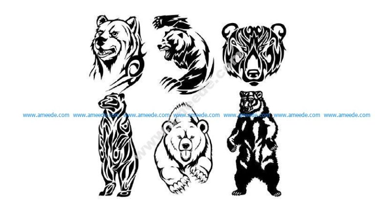 Tribal Bear Vector art