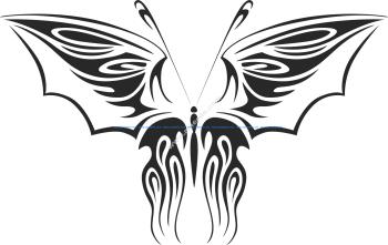Tribal Butterfly Vector Art 12