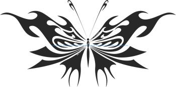 Tribal Butterfly Vector Art 14