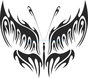 Tribal Butterfly Vector Art 16