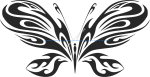 Tribal Butterfly Vector Art 20