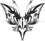 Tribal Butterfly Vector Art 21
