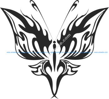 Tribal Butterfly Vector Art 21