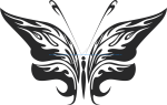 Tribal Butterfly Vector Art 25