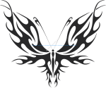 Tribal Butterfly Vector Art 31