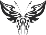 Tribal Butterfly Vector Art 32