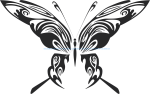 Tribal Butterfly Vector Art 48