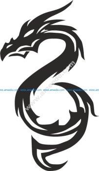 Tribal Dragons Tattoo