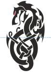 Tribal Gemini Tattoo Design Vector