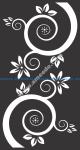 Vector Flowers And Swirls Black