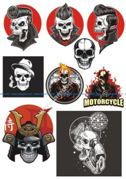Vinyl Stickers Vinyl Skull Design Vectors