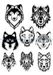 Wolf Face Silhouette Vector Art