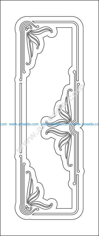 Wood room door design vector