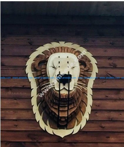 Wooden Trophy Lion
