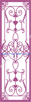 Wrought Iron Grille Pattern