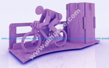 Bicycle Marathon Pen Holder Stand 3mm