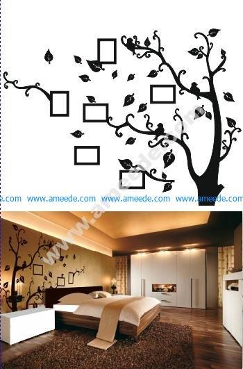 Family Tree Frame Free Vector