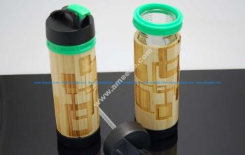 Bamboo Water Bottle Engraving