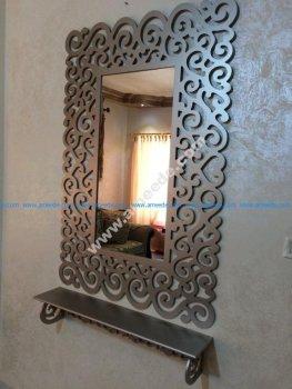 Bathroom Mirror Frame With Shelf