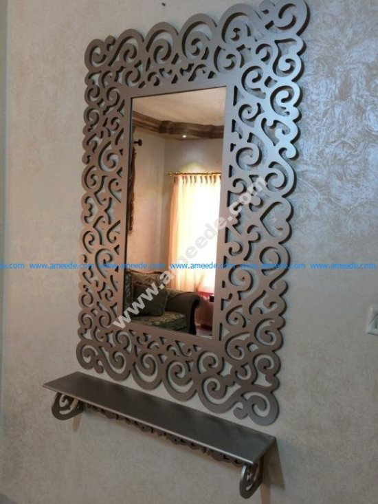 Bathroom Mirror Frame With Shelf