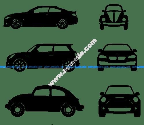 Car silhouette illustration Vector