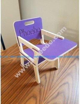 Children's Chair 9mm Vector plan