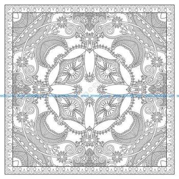 Coloriage mandala complexe carre par karakotsya 1