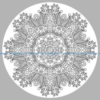 Coloriage mandala complexe par karakotsya 3